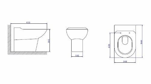 Bacia Sanitária Convencional Deca Duomo Plus P.12.17 Branco