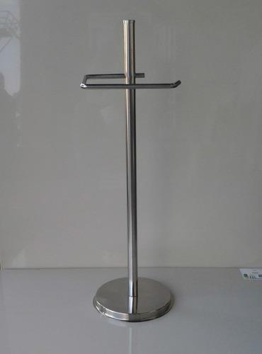 Papeleira De Chão Simples  Inox