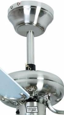 Ventilador De Teto 3 Pás E 3 Tulipas HL 45 Aço Escovado 110v