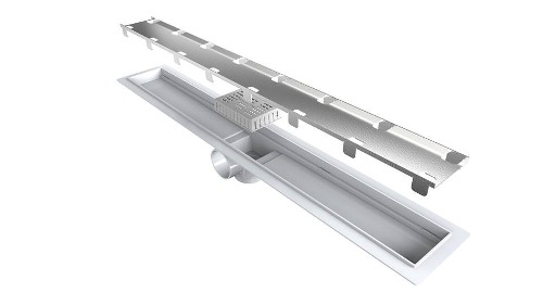 Ralo Linear Tampa Oculta 304 Saida Central e Horizontal 60cm L. Smart