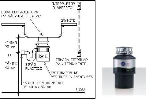 Triturador De Pia De Cozinha Insink Erator -55 -220v