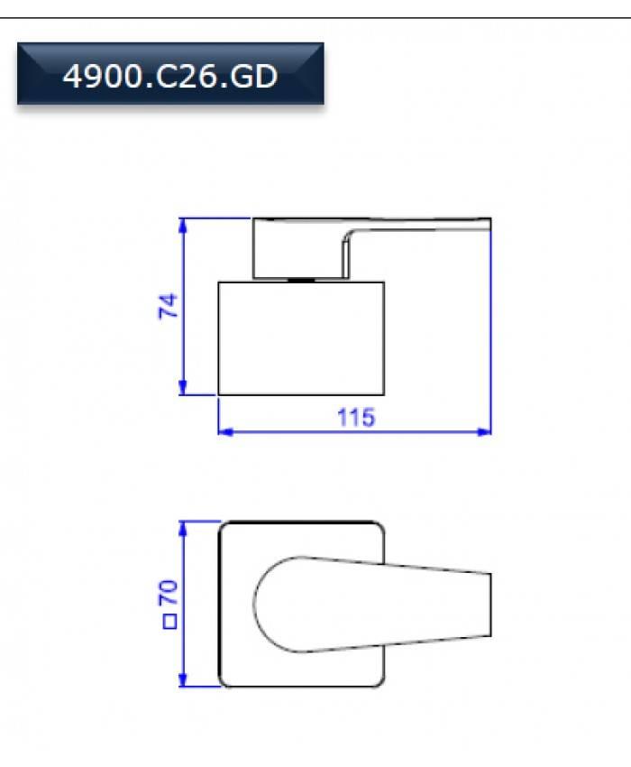 Acabamento gaveta 1 1/4 e 1 1/2 Level Deca 4900.C26.GD