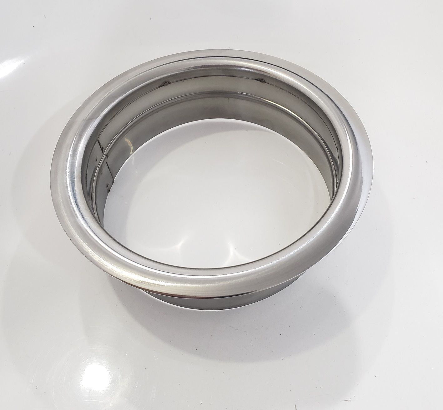 Aro Acabamento  p/ furo de 15cm na bancada em  Aço Inox