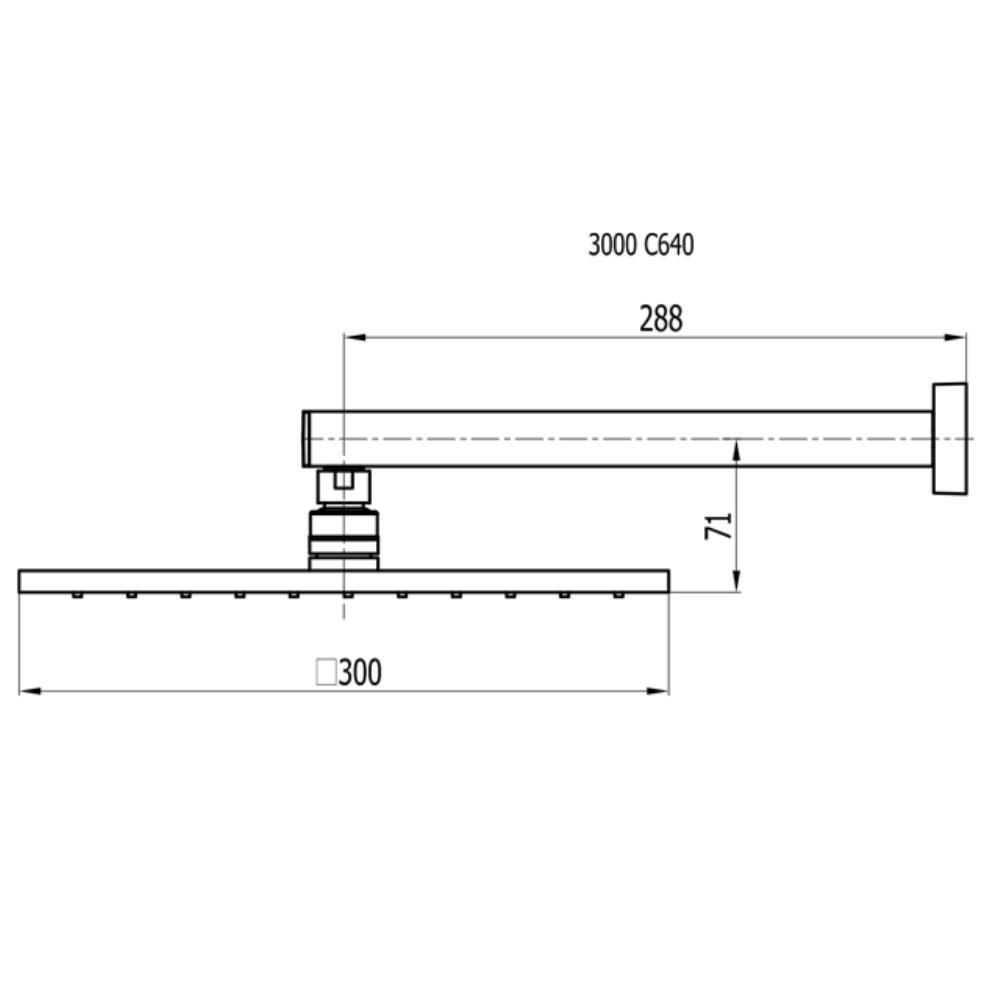 Chuveiro Articulado de Parede Com Bojo 30cm  - 3000 C640