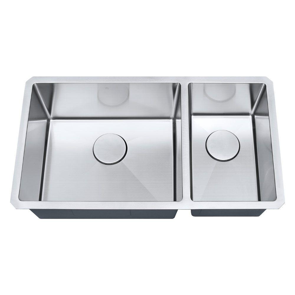 Cuba de cozinha 1mm S203 81,3x45,7x22,9cm aço inox escovado