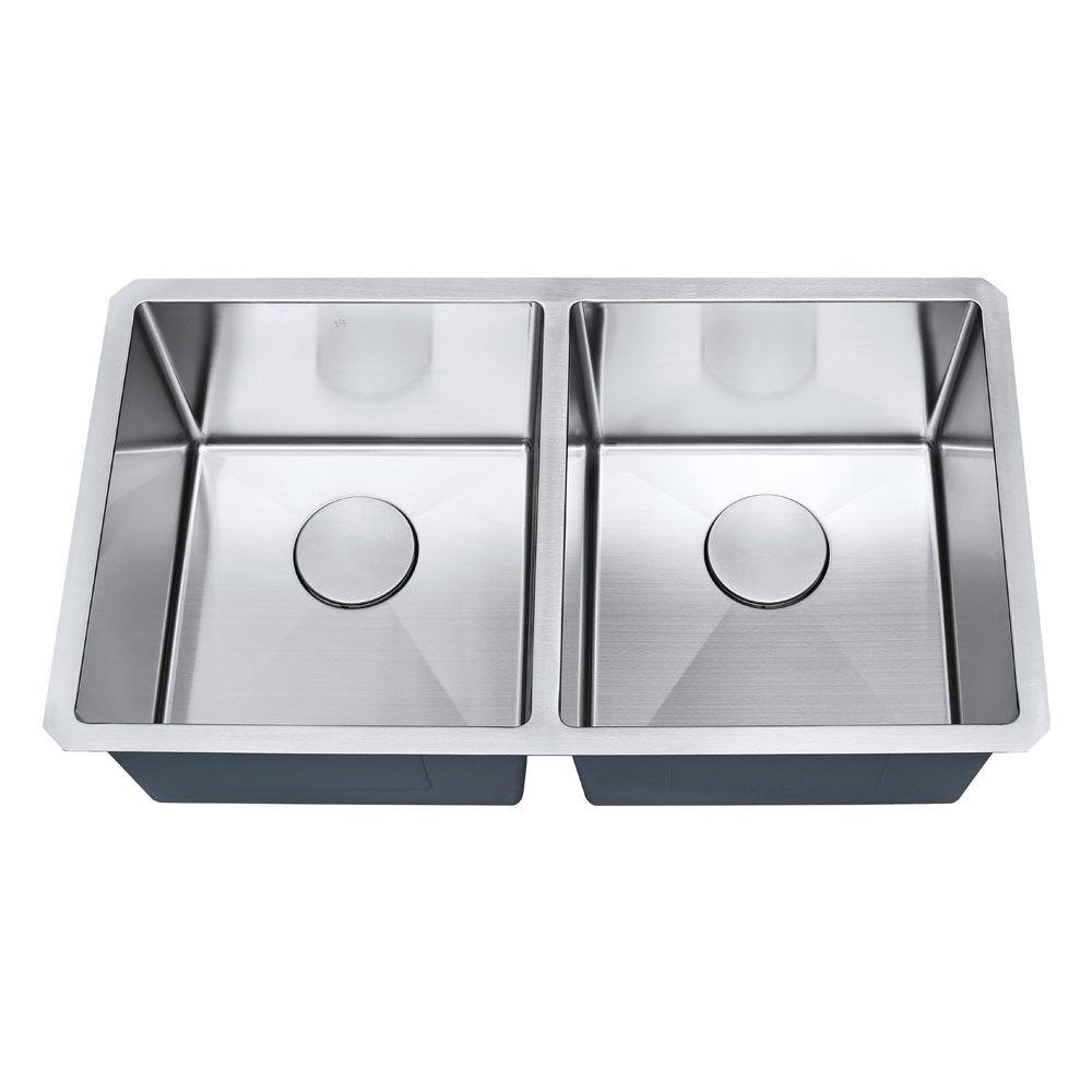 Cuba de cozinha aço inox 1mm escovado S202 81,3x45,7x22,9cm  ARE-S202 ARELL