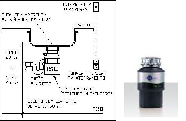 Cuba Inox C/lixeira Debacco  20229 E Triturador 56