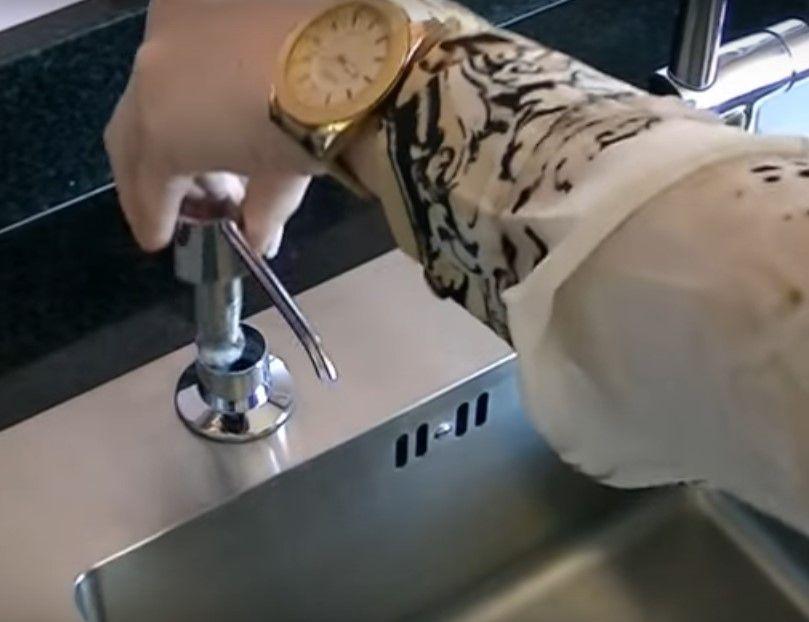 Dosador  P/ Detergente Ou Sabonete Liquido p/ Embutir na bancada 350ml