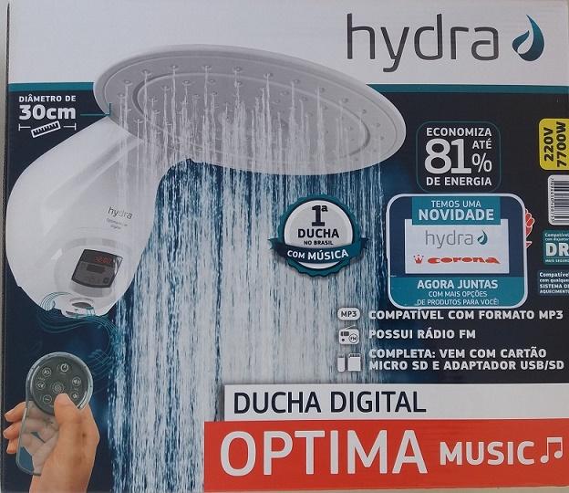 Ducha Chuveiro  Optima Music Hydra Corona 220v 7700w