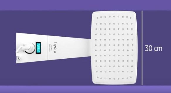 Ducha Digital POLO HYBRID 220v Branca sistema compativel c/ aquecimento solar ou a gas