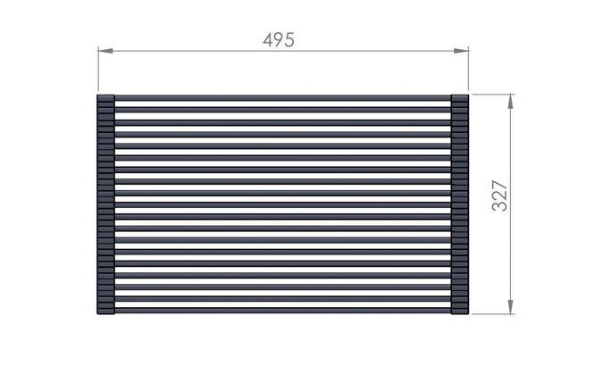 Escorredor Flexivel Multiuso 49cmx32cm