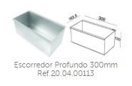 Escorredor Profundo 300mm Ref.20.04.00113