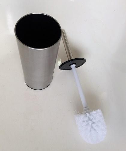 Escova sanitária com suporte  inox escovado
