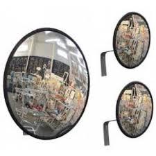 Espelho Convexo 30cm acabamento em borracha