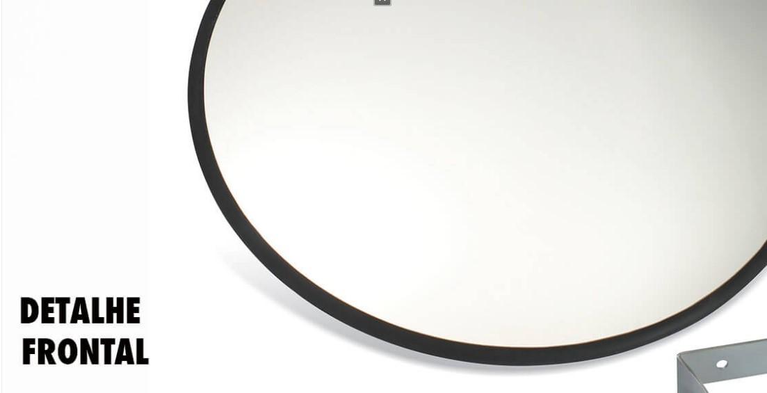 Espelho Convexo 60cm acabamento em borracha