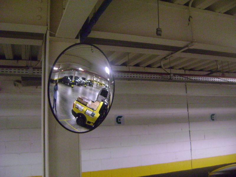 Espelho Convexo 80cm acabamento em borracha