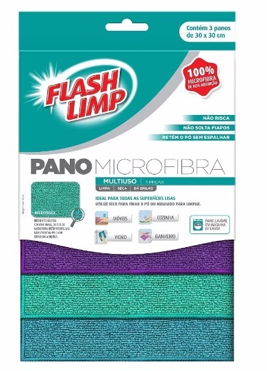 Kit Faxina Mop Giratório , Luva Microfibra  , Limpa Vidros E Panos