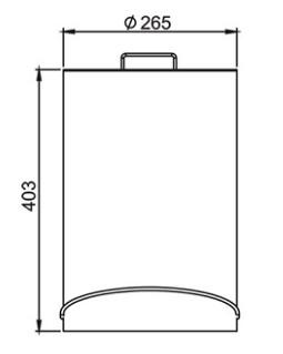 Lixeira Aço Inox com Pedal 12 Litros