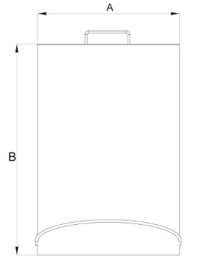 Lixeira Aço Inox com Pedal 5 Litros 20x30
