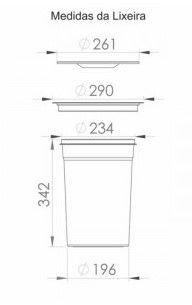 Lixeira de Embutir Inox 12l Linha Comercial Pequenos Defeitos