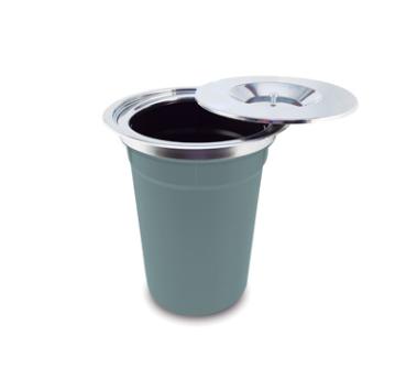 Lixeira Embutir Inox Debacco 12 Litros Ideal P/ Reciclados 20.03.25540