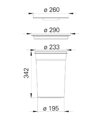 Lixeira Embutir Inox 12 Litros Ideal P/ Reciclados