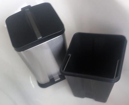 Lixeira inox com pedal quadrada 6 litros