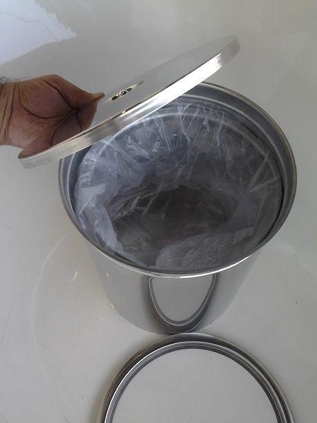 Lixeira Pia Cozinha Embutir No Granito Em Inox 5lts 20X23 CM