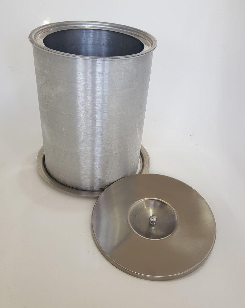 Lixeira Pia Cozinha Embutir No Granito Em Inox 6lt 20X30 CM