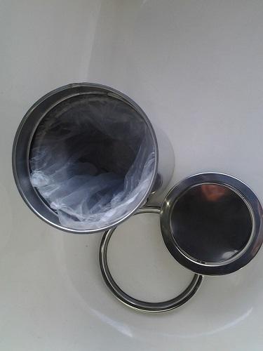 Lixeira Pia Cozinha Embutir No Granito Em Inox 6lt 20X30 CM Tampa Giratoria Basculante