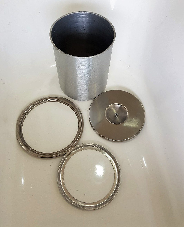Lixeira Pia Cozinha Embutir No Granito Em Inox 8lt 25X30 CM