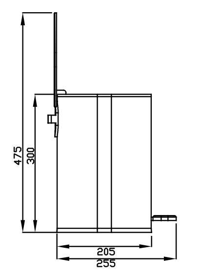 Lixeira Redonda em Metal com Pedal 5 Litros Branca