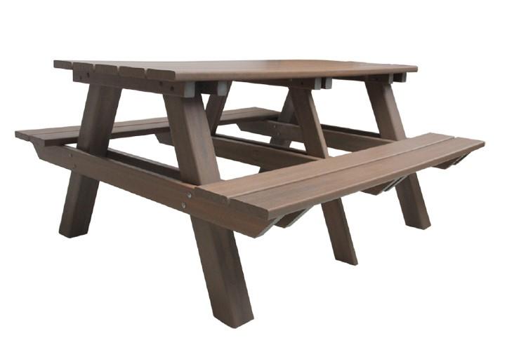 Mesa de Churrasqueira em madeira Plastica Ipê InBrasil