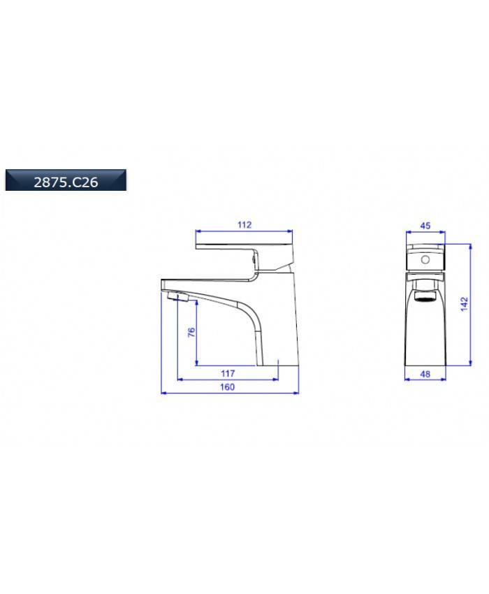 Misturador Deca Monocomando Lavatório Level 2875.C26