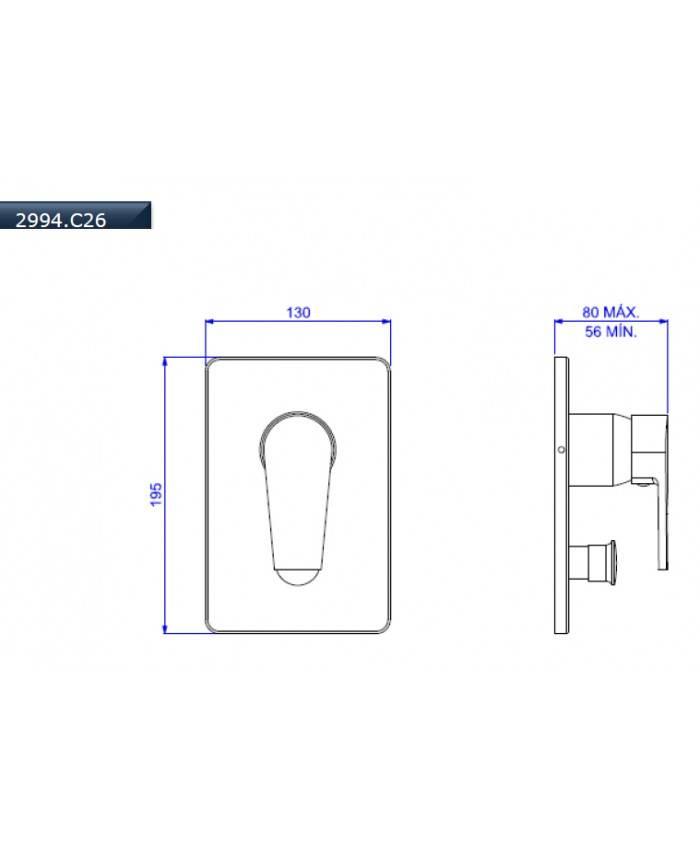 Misturador Monocomando 4 Vias Level Deca 2994.C26