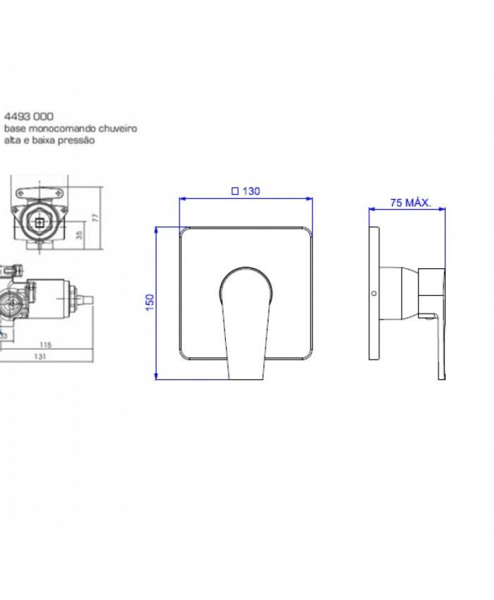 Misturador Monocomando Chuveiro Level Deca 2993.C26.034