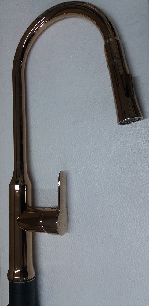 Misturador Monocomando Cozinha Red Gold  2 jatos com bica móvel e retrátil