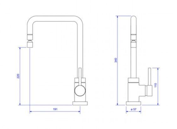 Misturador monocomando de mesa para cozinha Spin  2270.GL72.RD