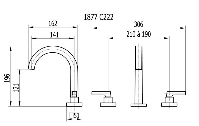 Misturador p/ lavatório de mesa bica alta Bella Classica 1877C 222