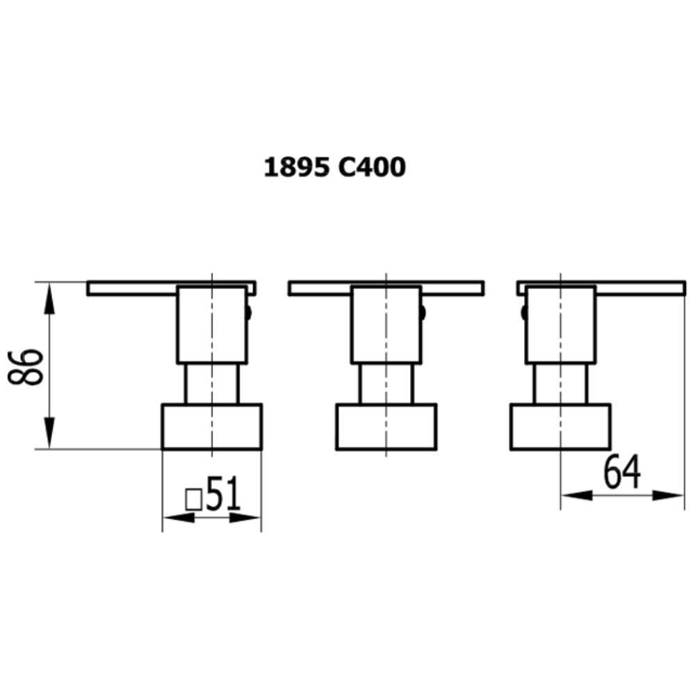 Misturador Para Bidê Platina - 1895 C400