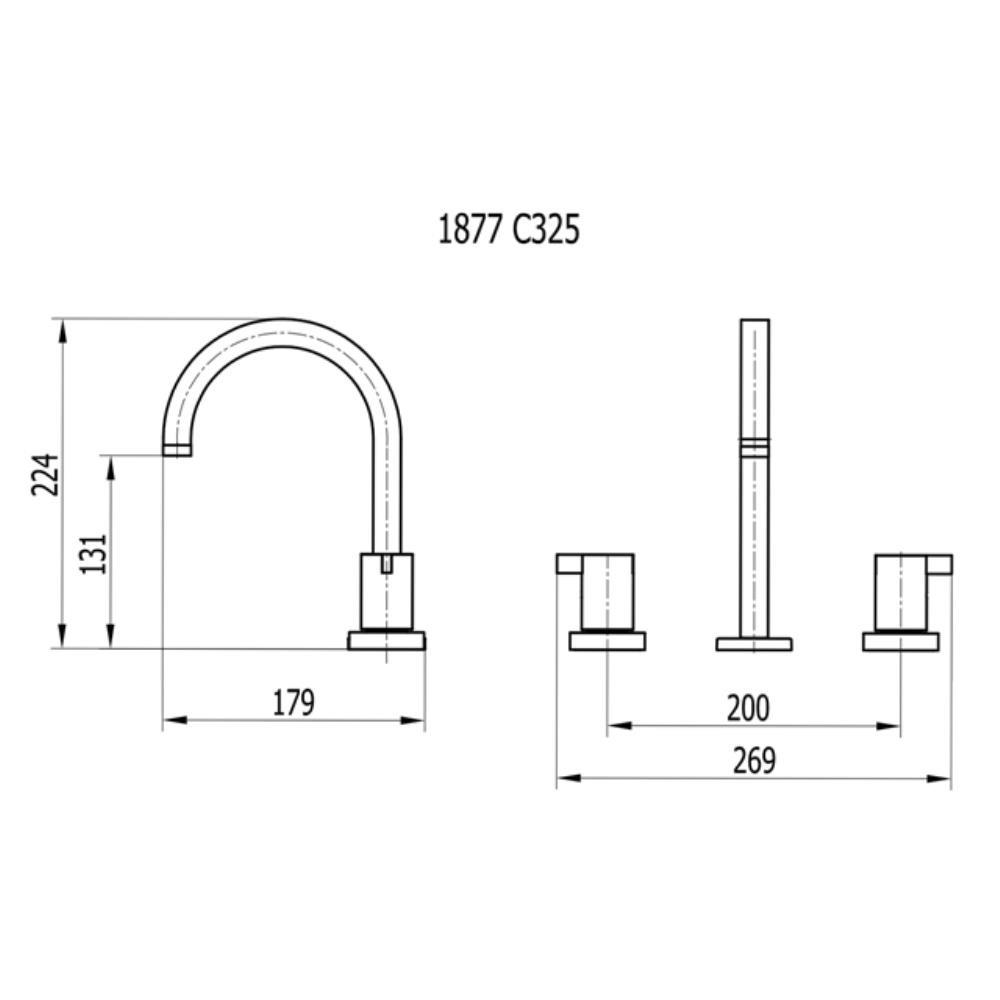 Misturador Para Lavatório de Mesa Bica Alta - 1877 C325