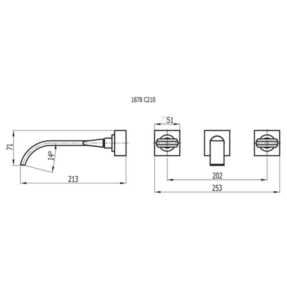 Misturador Para Lavatório de Parede - 1878 C210