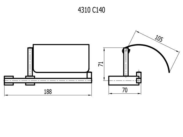 PAPELEIRA COM COBERTURA QUARTZO C-140 4310
