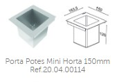 Porta Potes Mini Horta 150mm Ref.20.04.00114