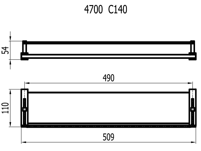PORTA SHAMPOO COM SABONETEIRA QUARTZO C-140 4710