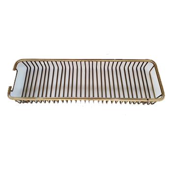Porta Shampoo Vergalhão Dourado  Latão polido 40cm