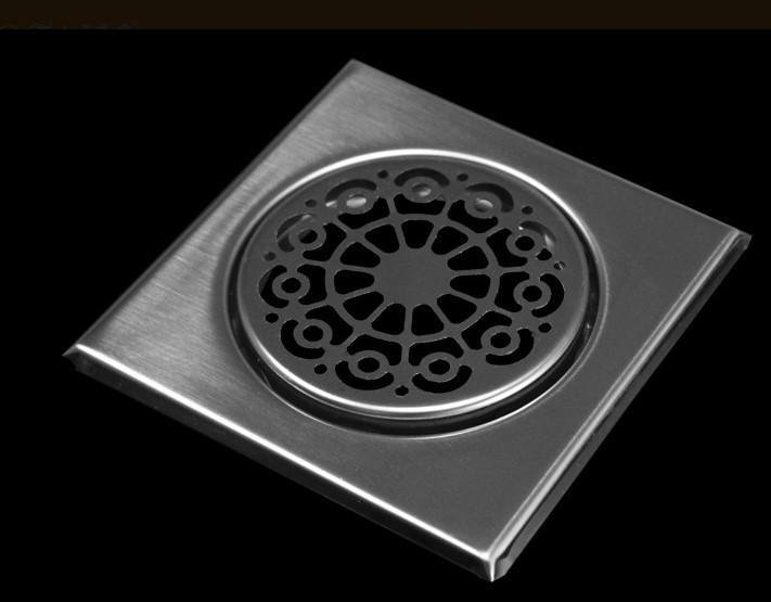Ralo Inox Elegance Thay 17,5x17,5 P/ Cx 150mm Escovado