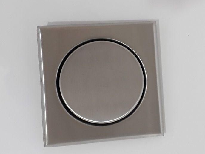 Ralo Inox Elegance Escovado 12,5cm x 12,5cm p/ Cx De 100mm