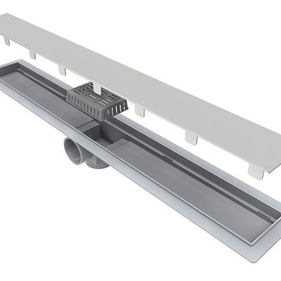 Ralo Linear Tampa Inox 304 Saida Central e Horizontal 70cm L.Smart