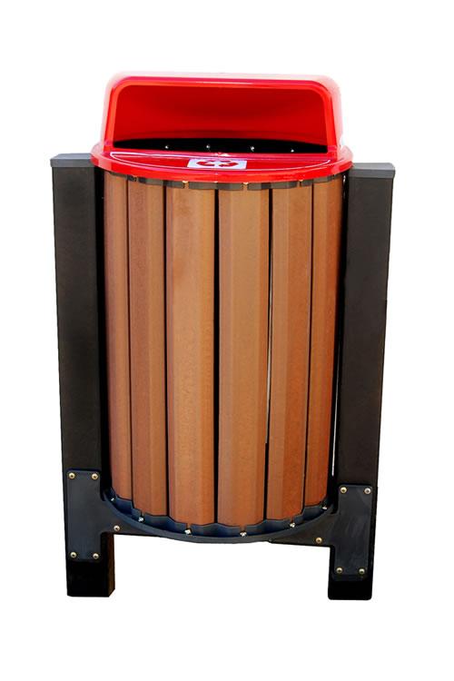 Suporte p/ lixeira de madeira plastica  94 litros c/ 70 cm fixo